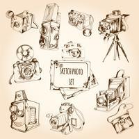 dibujo conjunto de fotos