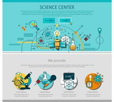 Science Center Line Seite Illustration