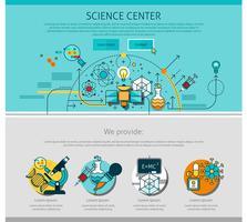 Línea de centro de ciencia ilustración de página