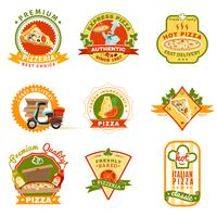 Set di emblemi per pizza