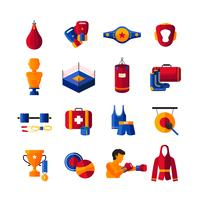 Boxing Flat Icons Collection
