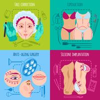 Plastic surgery set vector