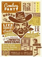 Cowboy Poster Illustration  vector