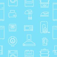 House Appliances Lines Seamless Pattern