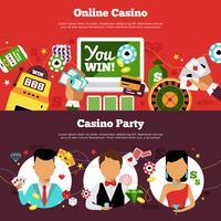Casino Horisontell Banners Set