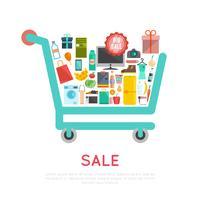 Ilustración de carro de compras