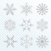 Snowflakes grey set