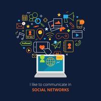 Cartel de redes sociales