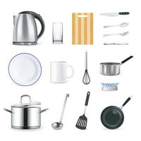 Realistic Kitchen Utensils vector