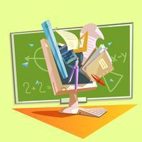 Retro-Karikatur der Bildung