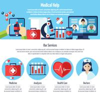 Medical Web Site vector