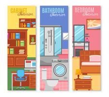 Conjunto de Banners de Muebles de Habitación