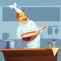Ilustración de taller de cocina