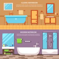 Bathroom Interior Banner Set