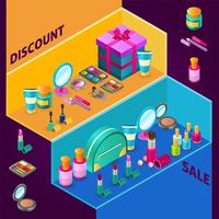 Cosmetics Isometric Composition