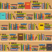Book shelves illustration vector