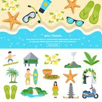 Concepto Bali Travel vector