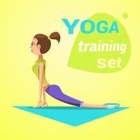 Yoga retro tecknad film