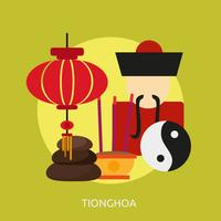 Ilustração conceitual de Tionghoa Design vetor