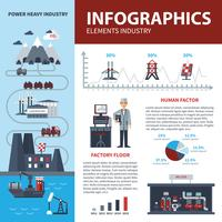Energy And Industry Infographics vector