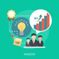 Mission Illustration conceptuelle Design vecteur