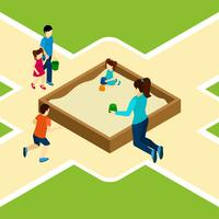 Paying On The Playground Illustration