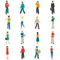 People Isometric Icons Set