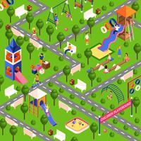 Isometric playground illustration