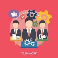 Teamwork Conceptuele afbeelding ontwerp