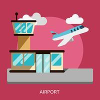 Progettazione dell'illustrazione concettuale dell'aeroporto