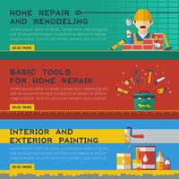 Home Repair Service Flat Banners Ser vector