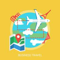 Business Travel Conceptual illustration Design vector