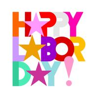 Happy Labor Day text design isolated on a white