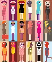 Gruppe von Personen Vektor-Illustration