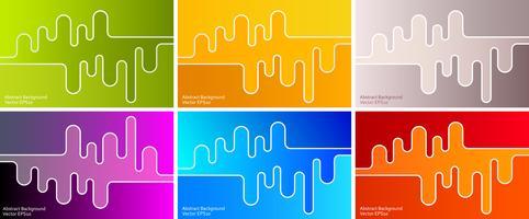 Seis fondos de diseño abstracto
