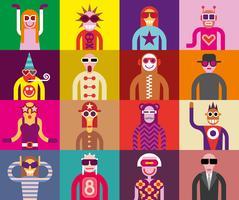 Pessoas em óculos de sol - retratos engraçados