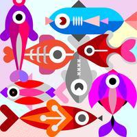 Ilustração do vetor de peixes de aquário