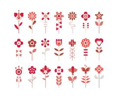 Set of flower vector  icons