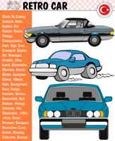 Car, Retro Car, Car Stories, eps, vector