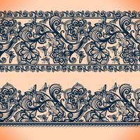 Abstract Lace Ribbon banners.Template frame design for card.Lace Doily.