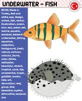 Fish, Fish Species - Underwater Life, eps vector