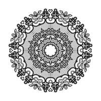 Abstract circle lace ribbon pattern. The lace for decoration