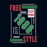 conception de t-shirt typographie new york city style libre