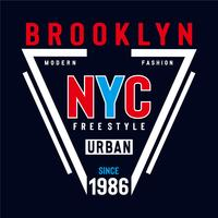 free style new york city typography design