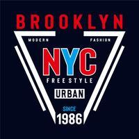 design tipografia new york city in stile libero