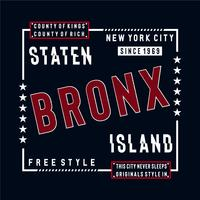 free style staten island typography design tee