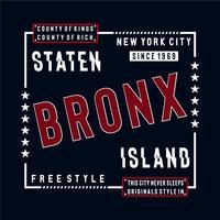 free style staten island typography design tee