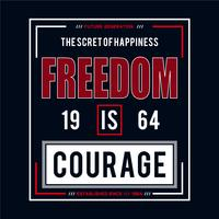freedom typography graphic design tee