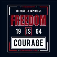 libertad tipografía diseño gráfico camiseta