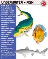 Fisk, fiskarter - Undervattensliv, eps vektor